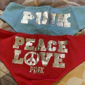 Pack of 2 Victoria Secret bling panties